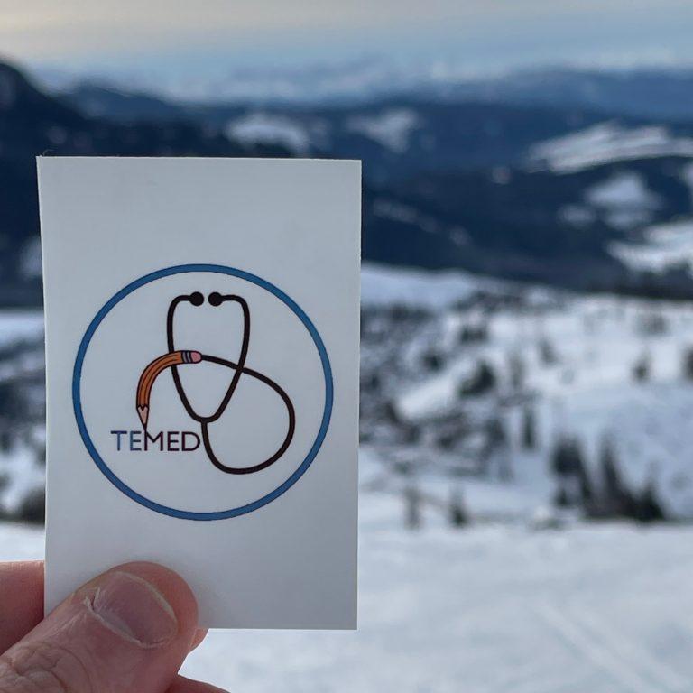 Logo di TeMed con la neve